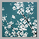 levne Abstraktní malby-Hang-malované olejomalba Ručně malované - Květinový / Botanický motiv Moderní Obsahovat vnitřní rám / Reprodukce plátna