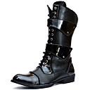 olcso Férfi csizmák-Férfi Fashion Boots Szintetikus Tél Vintage / Alkalmi Csizmák Melegen tartani Hosszú szárú csizmák Fekete
