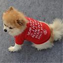 billige Kjære julekostymer-Hunder / Katter Vest Hundeklær Sitater og uttrykk / Snøfnugg Rød Polar Fleece Kostume For kjæledyr Unisex Klassisk / Jul