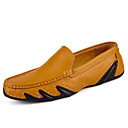 cheap Men's Slip-ons & Loafers-Men's Moccasin Cowhide Fall Casual / British Loafers & Slip-Ons Massage Black / Brown / Blue