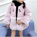 cheap Girls' Jackets & Coats-Kids Girls' Print / Color Block / Patchwork Long Sleeve Jacket & Coat