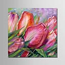 billige Blomster-/botaniske malerier-Hang malte oljemaleri Håndmalte - Blomstret / Botanisk Moderne Uten Indre Ramme / Valset lerret