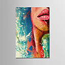 povoljno Slike ljudi-Hang oslikana uljanim bojama Ručno oslikana - Sažetak Moderna Bez unutrašnje Frame / Valjani platno