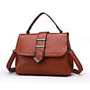 cheap Top Handles & Tote Bags-Women's Bags PU(Polyurethane) Top Handle Bag Zipper Solid Color Black / Brown / Wine / Fall & Winter