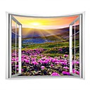 cheap Wall Decor-Landscape / Family Wall Decor 100% Polyester Modern Wall Art, Wall Tapestries Decoration