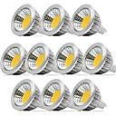 povoljno Auto Bluetooth set/Hands-free-zdm 10pcs dimmable 5w mr16 cob 400-450 lm toplo bijelo / cool bijelo / prirodno whitea 40 stupnjeva kut svjetla reflektora ak / dc12v