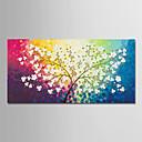 preiswerte Florale/Botansiche Gemälde-Hang-Ölgemälde Handgemalte - Blumenmuster / Botanisch Modern Ohne Innenrahmen / Gerollte Leinwand