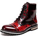 זול הד פיס למסיבות-בגדי ריקוד גברים Fashion Boots עור נאפה Leather סתיו חורף קלסי / יום יומי מגפיים שמור על חום הגוף מגפונים\מגף קרסול שיפוע אדום / משרד קריירה / מגפיי קרב
