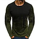 povoljno Dijelovi i dodaci za 3D printer-Majica s rukavima Muškarci Dnevno Pamuk Color block Okrugli izrez Slim Red / Dugih rukava