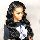 cheap Human Hair Wigs-Remy Human Hair Full Lace Lace Front Wig Brazilian Hair Body Wave Deep Curly Wig Asymmetrical Haircut 130% 150% 180% Hair Density with Baby Hair Women Easy dressing Natural Black Women's Long Human