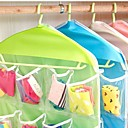 billige Jewelry Storage-bekvemmelighet 16 grid oppbevaring poser plass saver arrangør skapet lagring undertøy sokkel oppbevaringspose