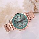 abordables Relojes de Moda-Mujer Reloj de Pulsera Cuarzo Oro Rosa Reloj Casual Analógico Casual Moda - Rosa Verde claro Fruta Verde Un año Vida de la Batería