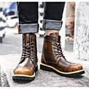 baratos Botas Masculinas-Homens Sapatos Confortáveis Pele Inverno Botas Botas Cano Médio Preto / Marron