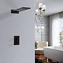 abordables Cabezas de Ducha-Grifo de ducha - Moderno Acabados Pintados Colocado en la Pared Válvula Cerámica Bath Shower Mixer Taps / Latón / Dos asas de dos agujeros