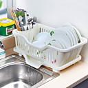 billige Køkkenopbevaring-Køkkenorganisation Hængende kurve Plastik Kreativ Køkkengadget 1pc