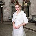 billige Brudesjaler-Halvlange ermer Fuskepels Fest / aften / Bursdag Sjal til kvinner Med Blomsternål i krystall Boleroer