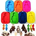 preiswerte Küchengeräte-silikon roboter menschen figur spielzeug ziegelmann eisform schokoladenkuchenhersteller