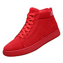cheap Men's Sneakers-Men's Comfort Shoes PU(Polyurethane) Winter Casual Sneakers Non-slipping Black / Gray / Red