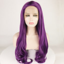 cheap Synthetic Lace Wigs-Synthetic Lace Front Wig Women's Body Wave / Deep Wave Purple Free Part 180% Density Synthetic Hair 18-26 inch Adjustable / Heat Resistant / Elastic Purple Wig Long Lace Front Purple