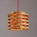 billige Vedhæng Lys-Tromme Vedhæng Lys Baggrundsbelysning Træ Træ / bambus Træ / bambus Nyt Design 110-120V / 220-240V Pære ikke Inkluderet / E26 / E27