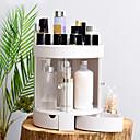 preiswerte Schmuckkästchen-Lager Organisation Kosmetik Make-up Veranstalter Kunststoff Rund Doppelschicht