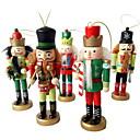 baratos Decorações Natalinas-Presentes Férias De madeira Quadrada Festa Decoração de Natal