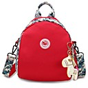 cheap Backpacks-Women's Bags Canvas Backpack Pattern / Print Black / Red / Gray