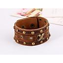 cheap Men's Bracelets-Men's Vintage Style Rivet Vintage Bracelet Leather Bracelet - Leather Stylish, Vintage, Punk Bracelet Jewelry Brown For Gift Street