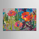 billige Landskabsmalerier-Hang-Painted Oliemaleri Hånd malede - Abstrakt / Blomstret / Botanisk Moderne Omfatter indre ramme / Stretched Canvas