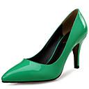 baratos Sapatilhas Femininas-Mulheres Stiletto Sintéticos Outono & inverno Saltos Salto Agulha Dedo Apontado Vermelho / Verde / Verde Claro / Casamento