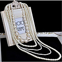 cheap Necklaces-Women's White Vintage Style Necklace - Imitation Pearl Classic, Vintage Cool White 45 51 58 68 86 cm Necklace Jewelry 1pc For Party / Evening, Festival