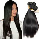voordelige Weaves van echt haar-4 bundels Maleisisch haar Recht 8A Echt haar Menselijk haar weeft Verlenging Bundle Hair 8-28 inch(es) Natuurlijke Kleur Menselijk haar weeft Zijdeachtig Glad Extensions van echt haar Dames