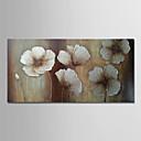 tanie Wydruki-Hang-Malowane obraz olejny Ręcznie malowane - Abstrakcja / Kwiatowy / Roślinny Nowoczesny Zwinięte płótna / Zwijane płótno