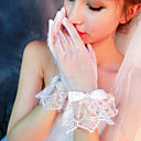 cheap Party Gloves-Net Wrist Length Glove Gloves With Bows