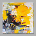 cheap Abstract Paintings-Oil Painting Hand Painted - Abstract Floral / Botanical Modern Rolled Canvas