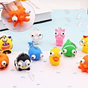 cheap Christmas Decorations-1PCS Cute Small Squeeze Antistress Toy Pop Out Eyes Doll Novelty Stress Relief Venting Keychain Joking Decompression Funny Toys Random Color