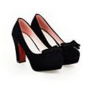 hesapli Kadın Topukluları-Kadın's Ayakkabı Süet Yaz Topuklular Stiletto Topuk Günlük için Siyah / Kırmzı / Mavi