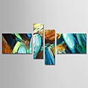 povoljno Apstraktno slikarstvo-Hang oslikana uljanim bojama Ručno oslikana - Sažetak Moderna Uključi Unutarnji okvir / Četiri plohe / Prošireni platno
