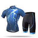 abordables Pulseras-XINTOWN Hombre Manga Corta Maillot de Ciclismo con Shorts - Azul Bicicleta Shorts / Malla corta / Camiseta / Maillot / Sets de Prendas, Transpirable, Almohadilla 3D, Secado rápido, Resistente a los