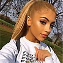 tanie Peruki z włosów ludzkich-Włosy naturalne remy Pełna siateczka Siateczka z przodu Peruka Włosy brazylijskie Prosta Naturalnie proste Blond Peruka Fryzura asymetryczna 130% 150% 180% Gęstość włosów z Baby Hair Miękka Damskie
