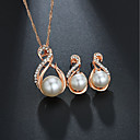 cheap Jewelry Sets-Women's Classic Jewelry Set - Imitation Pearl Sweet, Elegant Include Bridal Jewelry Sets Gold / Silver For Wedding Birthday
