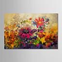 halpa Abstraktit maalaukset-Hang-Painted öljymaalaus Maalattu - Kukkakuvio / Kasvitiede Moderni Ilman Inner Frame / Valssatut kankaat