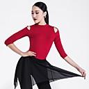 رخيصةأون ملابس رقص لاتيني-الرقص اللاتيني كنزات نسائي أداء مودال ruching في نصف كم بلايز