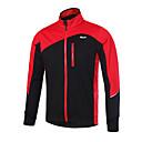 baratos Jaquetas de Ciclismo-Arsuxeo Homens Jaqueta para Ciclismo Moto Jaqueta de Inverno A Prova de Vento, Respirável Verde / Azul / Cinza Escuro Roupa de Ciclismo