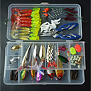 cheap Fishing Lures & Flies-111 pcs Fishing Lures Hard Bait / Soft Bait Mixed Material Easy to Carry / Easy to Use Sea Fishing / Fly Fishing / Bait Casting