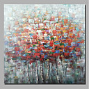 preiswerte Gerahmte Kunst-Hang-Ölgemälde Handgemalte - Abstrakt / Blumenmuster / Botanisch Zeitgenössisch / Modern Segeltuch