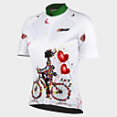 cheap Cycling Jerseys-21Grams Women's Short Sleeve Cycling Jersey - White Floral / Botanical Bike Jersey Top, Breathable Quick Dry Ultraviolet Resistant 100% Polyester / Stretchy / Advanced / Back Pocket