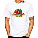 preiswerte Rubiks Würfel-Herrn Grafik - Grundlegend Sport Baumwolle T-shirt, Rundhalsausschnitt Druck Zauberwürfel