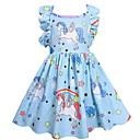 tanie Sukienki dla dziewczynek-Dzieci Dla dziewczynek Aktywny Solidne kolory / Geometric Shape Bez rękawów Sukienka Rumiany róż 100