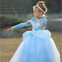 billiga Film- och TV-kostymer-Prinsessa Cinderella Vintage Cosplay Lolita Kostym Flickor Klänningar Purpur / Blå Vintage Cosplay Kortärmad Puffärm